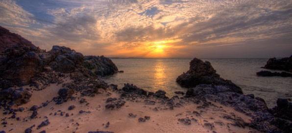 First sunset on Esper, taken from Sadla Island