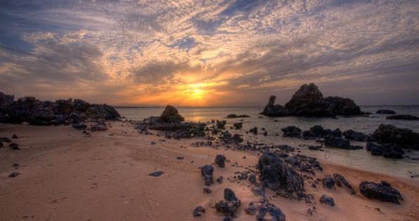 Beautiful landscape and sunset