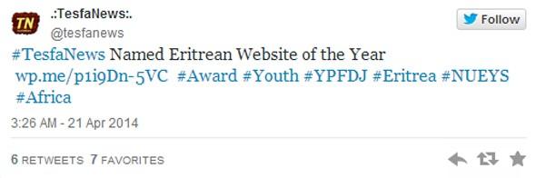 Top website Award