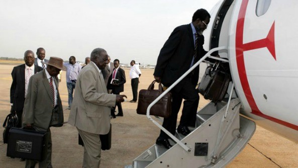 South Sudan's Minister for Information and Broadcasting, Michael Makuei Lueth, expresses his government's dissatisfaction with the mediation team headed by former Ethiopian FM
