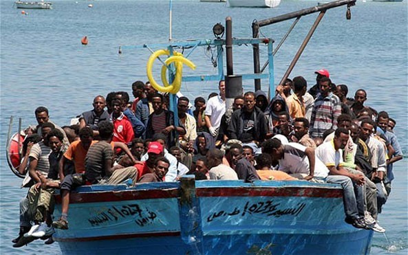 Alleged human traffickers who had arranged more than 20 boat trips from north Africa to Europe picked up in sting operation in Italy and Germany