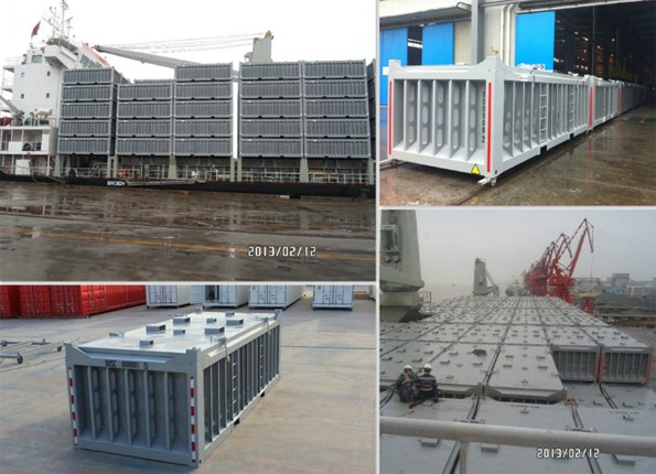 Copper Concentrate transport containers loaded for delivery to Eritrea from China (Feb 203)