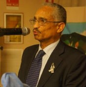 Ambassador Fesehazion Petros  affirming solidarity of the people and Government of Eritrea with the people  of Rwanda