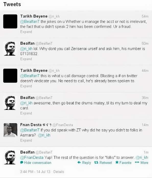 BealfanT lies about Eritrea's Zersenay Tadese