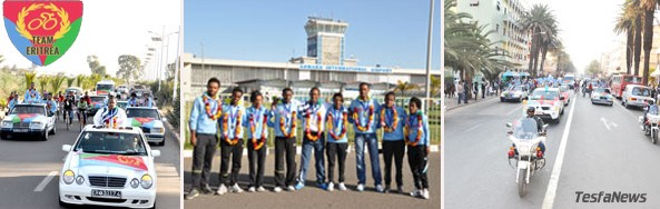 Eritrea's Golden team and Four time African Champions back home triumphantly