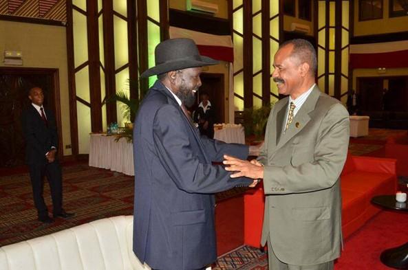 President Afwerki with President Salva kiir of South Sudan