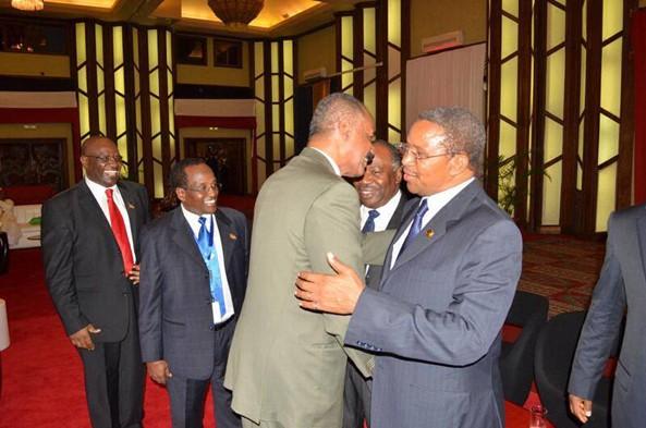 President Afwerki with President Jakaya Kikwete of Tanzania