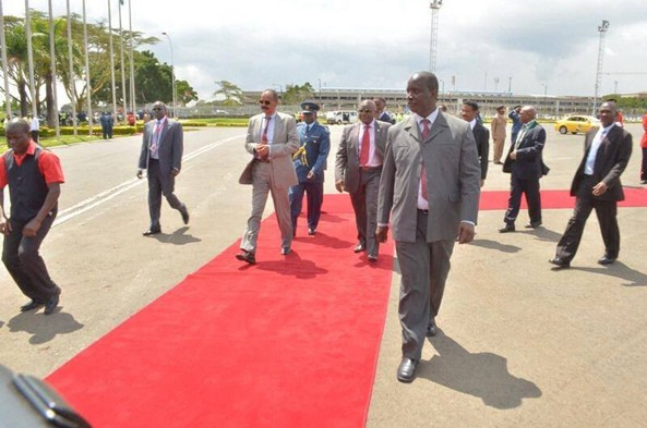 President at Jomo Kenyatta International Airport
