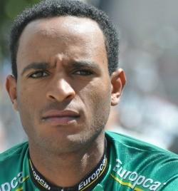 Natnael Berhane in his Europcar kit