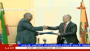 Somali Defense Minister after signing the dubious treaty with Ethiopia