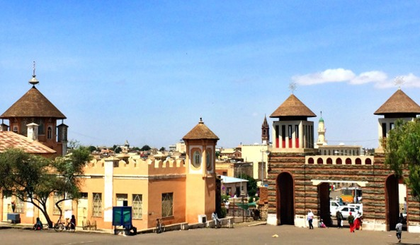 Mosques and Churches side by side in down town Asmara