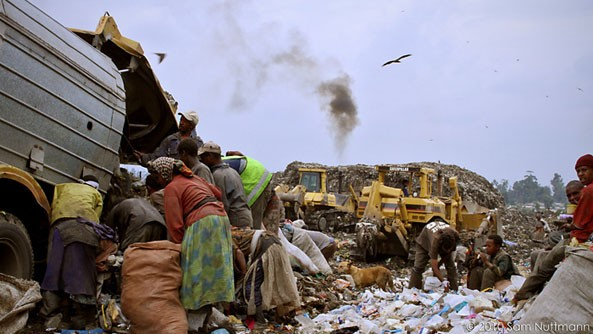 Korah dump in Addis Ababa is home to around 130,000 residents of Addis Ababa who survive from the garbage one way or the other
