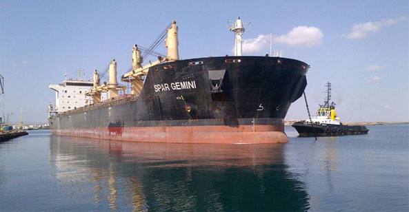 Bulk carrier Supramax M.V. Spar Gemini departed from Massawa Ore Concentrate Terminal with 34,264 MT of Copper Concentrates from the Eritrean Bisah Mine
