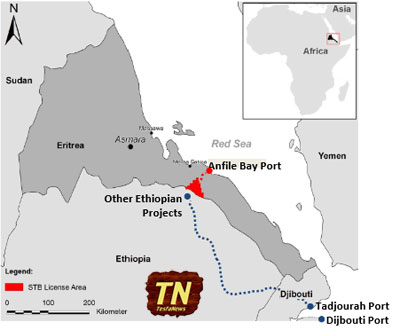 """""""Obviously it would make commercial sense to transport the material from Ethiopia across the border to Eritrea. It would be ideal if this could overcome any political tensions between the two countries, but should that be difficult, then Djibouti would be the alternative export route, with the potash trucked there."""" - Farhad Abasov, President and CEO of Allana Resources"""