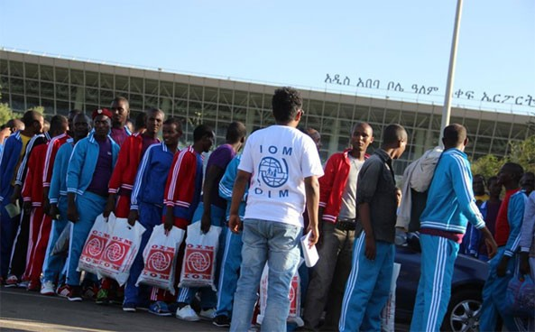 Over 100 Ethiopian Migrants Return Home