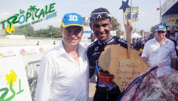Mekseb Debesay Received His Best 2014 African Cyclist Award