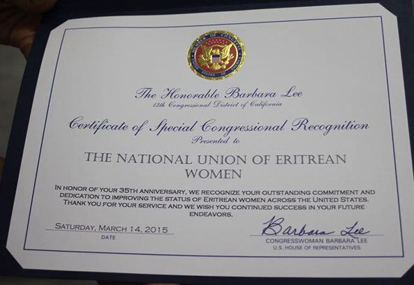 NUEW Recieved Special Congressional Recognition and Commendation Awards in Oakland