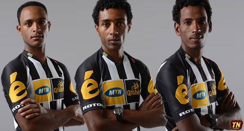 three Eritrean riders vying for one of MTN_Qhubeka's Tour de France squad