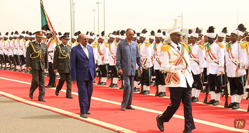 President Isaias Arrives in Khartoum for State Visit