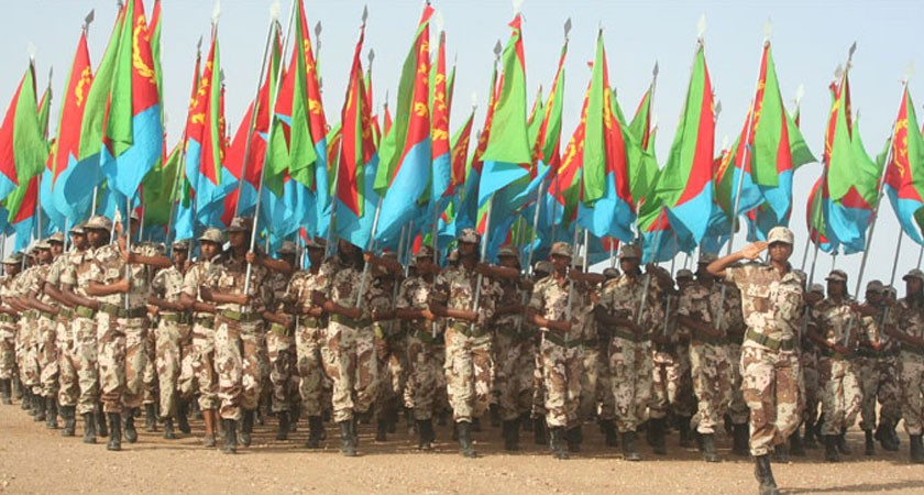 eritrean feamale soldiers military parade
