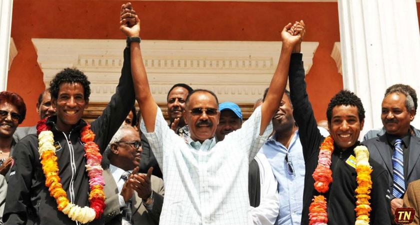 Eritrea Celebrates Kudus and Teklehaimanot After Tour Ride