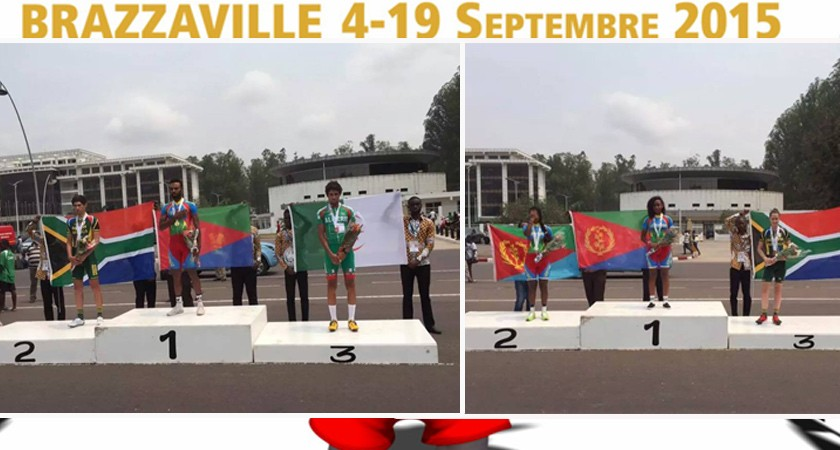 Team Eritrea Sweeps 2 Time Trial Golds and 1 Silver at All African Games