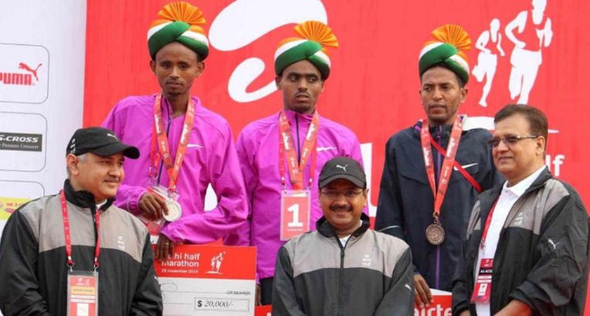 Ethiopia's Legese 1st, Eritrea's Tadese 3rd at Delhi Half Marathon