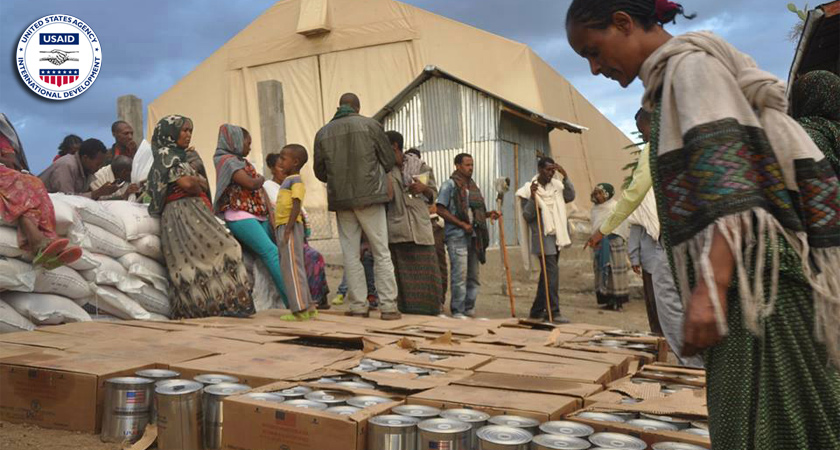 Aid used to feed millions drought victims in Ethiopia