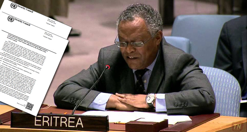 Letter from the Permanent Representative of Eritrea to the UN Security Council President