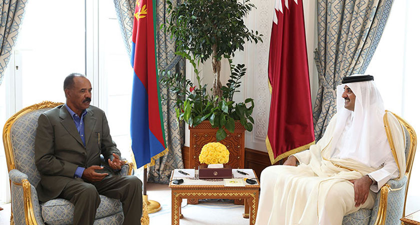 Emir of Qatar Receives Visiting Eritrean President
