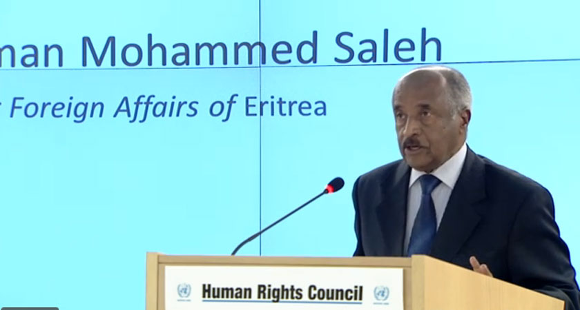 FM Osman Saleh Addresses the 31st Session of the UN Human Rights Council