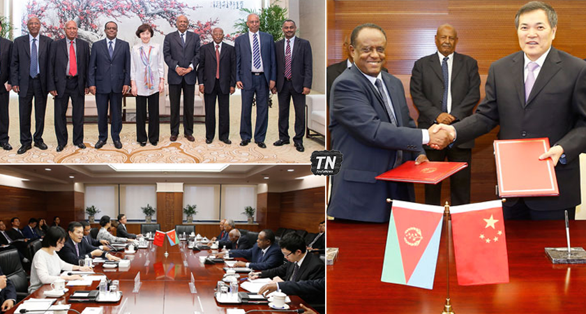 Senior Eritrean Government Delegation on Work Visit to China