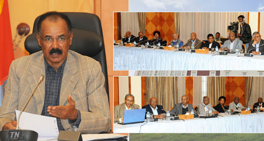 Eritrea Cabinet of Ministers Holds Meeting
