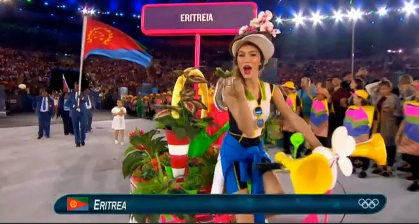 Eritrea Parade at Rio Olympics Opening Ceremony