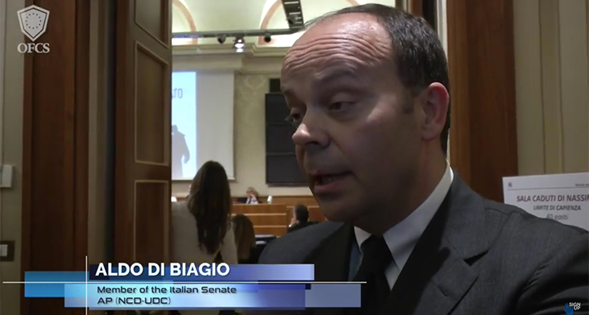 Senator Aldo Di Biagio: A Note to the Italian Minister of Foreign Affairs