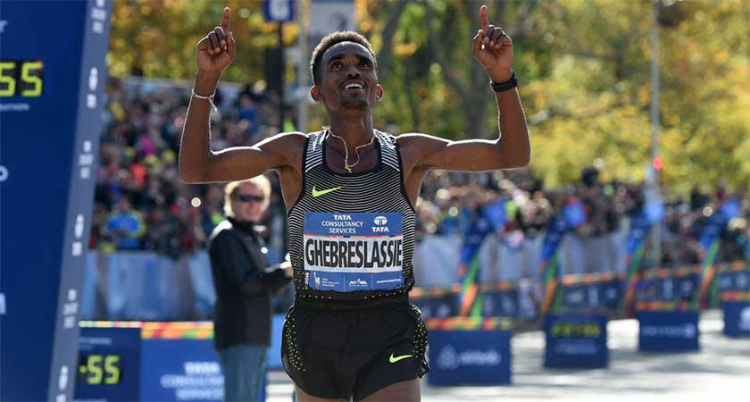 Eritrea's Ghirmay Ghebreslassie Wins the New York City Marathon