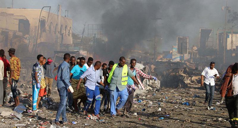 Mogadishu truck bomb blast killed 190, national mourning declared