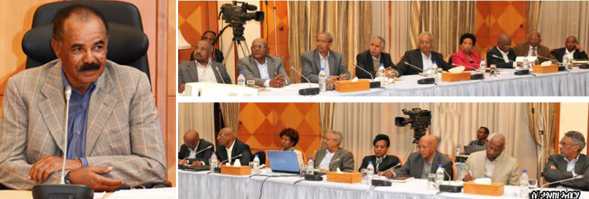 The Eritrea Cabinet of Ministers discuss large development projects for 2018