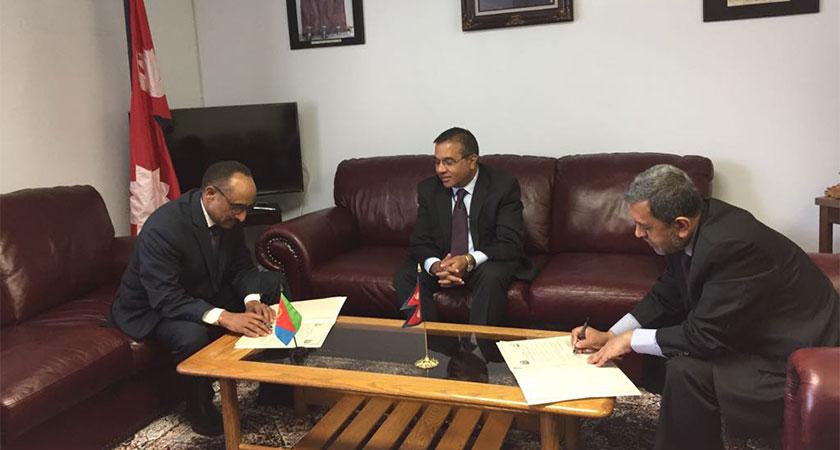 Nepal Eritrea sign diplomatic relation