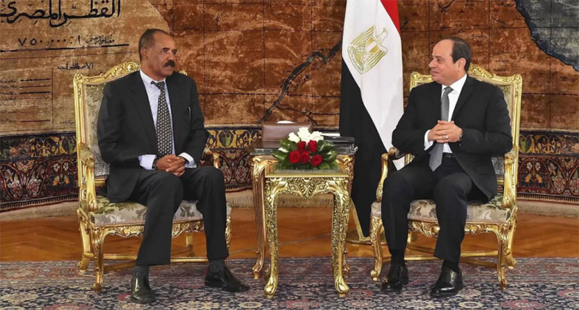 Eritrean President Isaias Afwerki meets with Egyptian President el-Sisi meet in Cairo