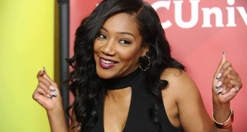 African American female comedian and actress, and the author of 'The Last Black Unicorn', Tiffany Haddish