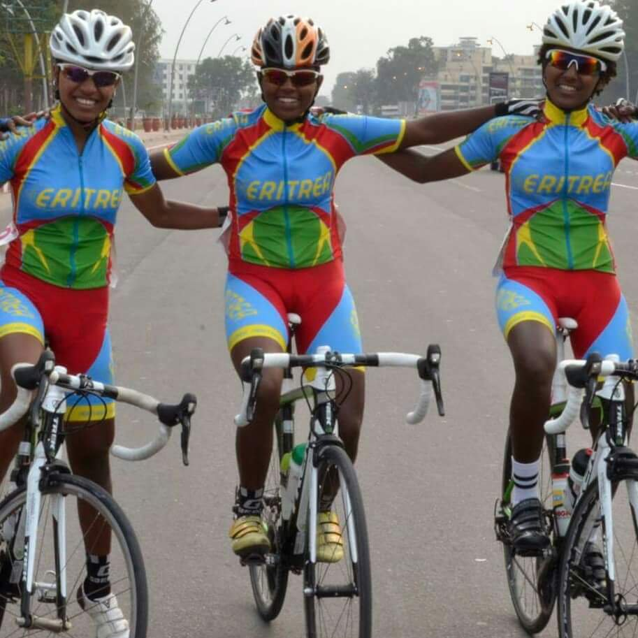 The Eritrean women's cycling team