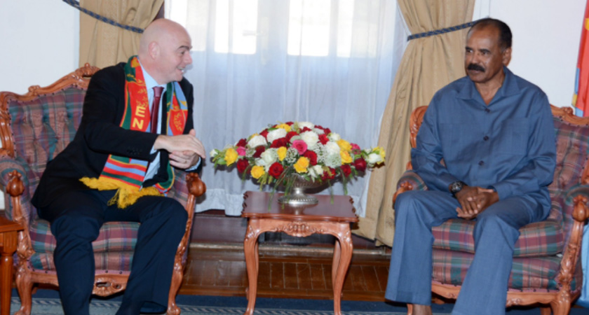 President Isaias Afwerki, FIFA President Gianni Vincenzo Infantino meets