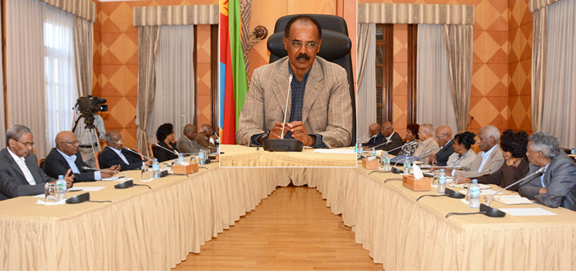 President Isaias chaired the Cabinet of Ministers' regular meeting