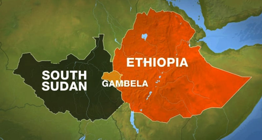 """The government of South Sudan today accused neighboring Ethiopia of allowing rebels use its territory as a """"launching pad."""""""
