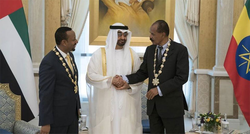 "President Isaias Afwerki and Prime Minister Abiy Ahmed honored with the highest civil honor in UAE, the ""Order of Zayed"""