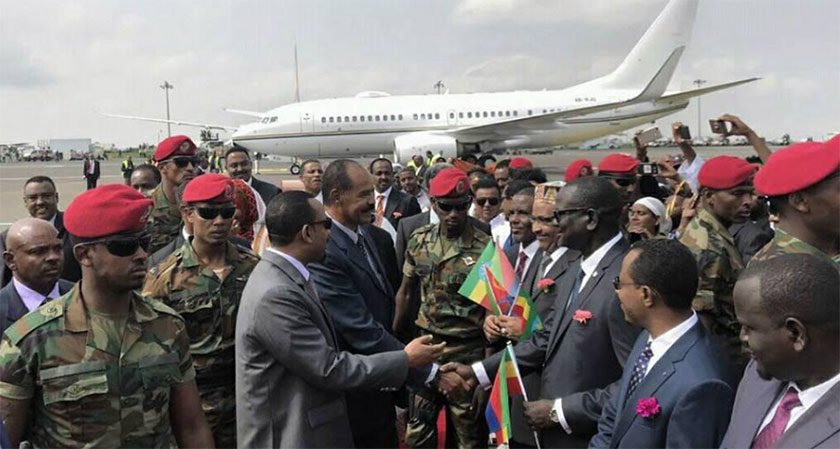 Eritrean President Isaias Afwerki in Ethiopia for Landmark Visit