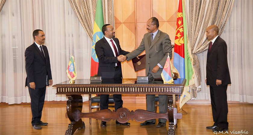 Ethiopia and Eritrea made a historic breakthrough to end the state of war that lasted for two decades