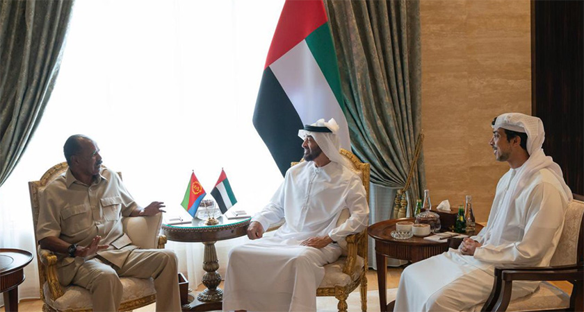 Crown Prince of Abu Dhabi receives resident Isaias Afwerki of Eritrea