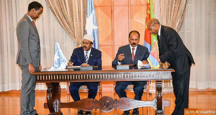 Eritrea, Somalia Signed Joint Declaration on Relations
